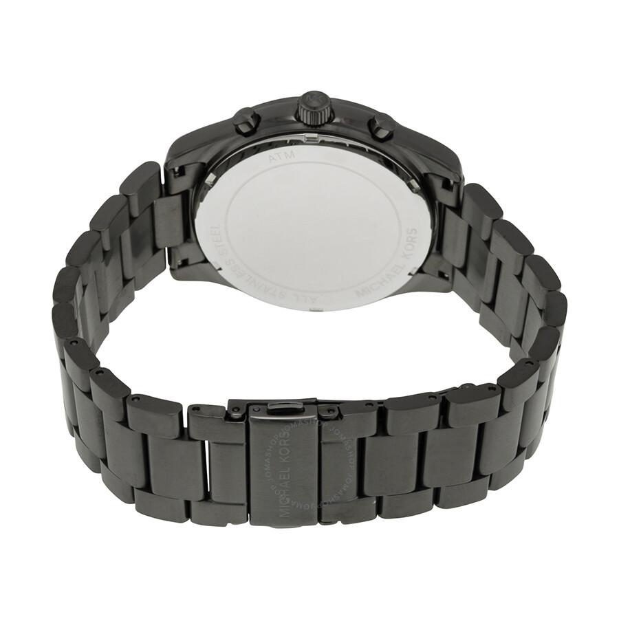 8ab6fc523b10 ... Michael Kors Aiden Chronograph Navy Dial Gunmrtal-tone Men s Watch  MK8418
