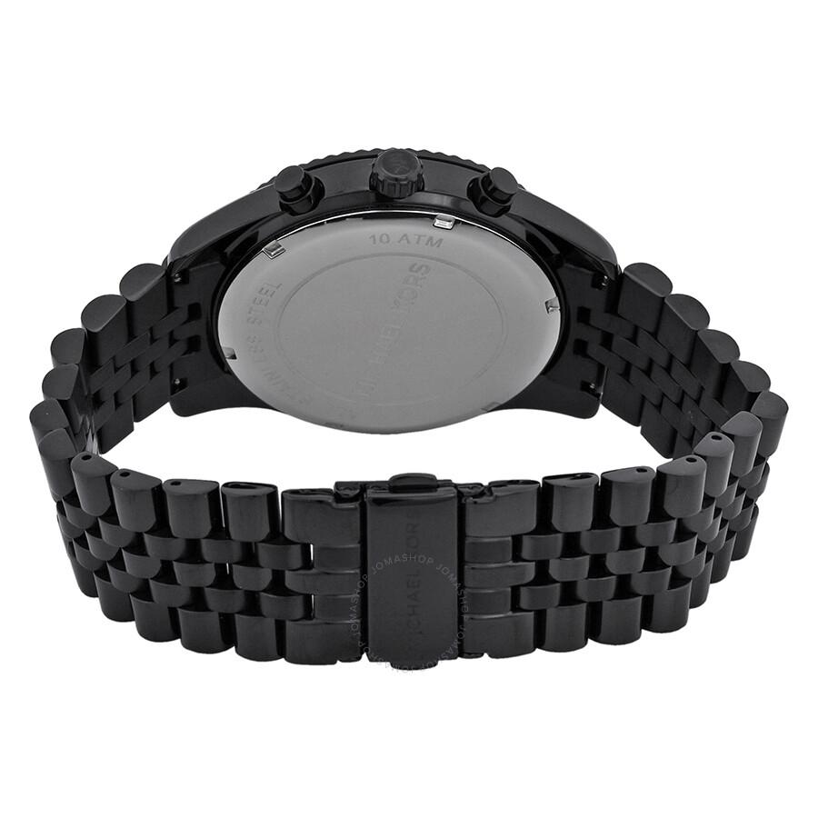 2a168a6efc335 ... Michael Kors All Black Large Lexington Chronograph Bracelet Watch  MK8320 ...