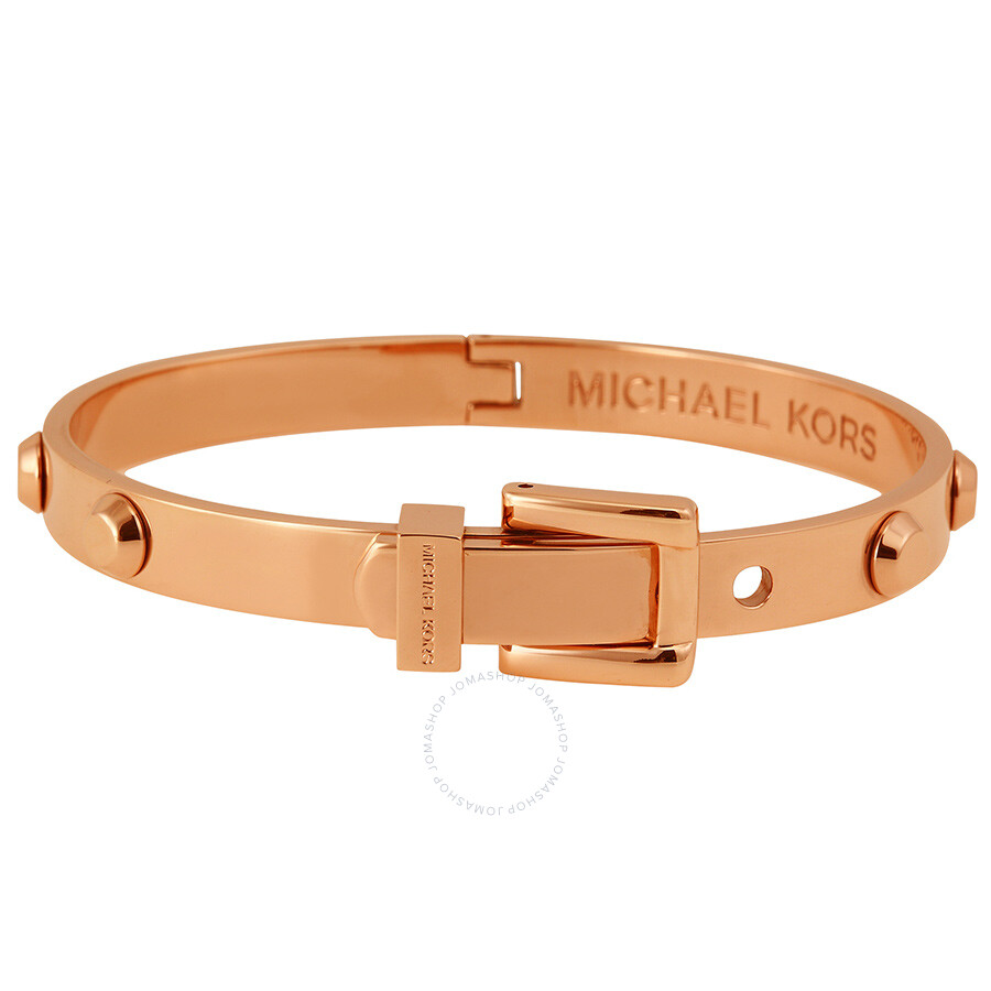 100867133aa7 Michael Kors Astor Rose Golden Buckle Bangle Bracelet - Michael Kors ...