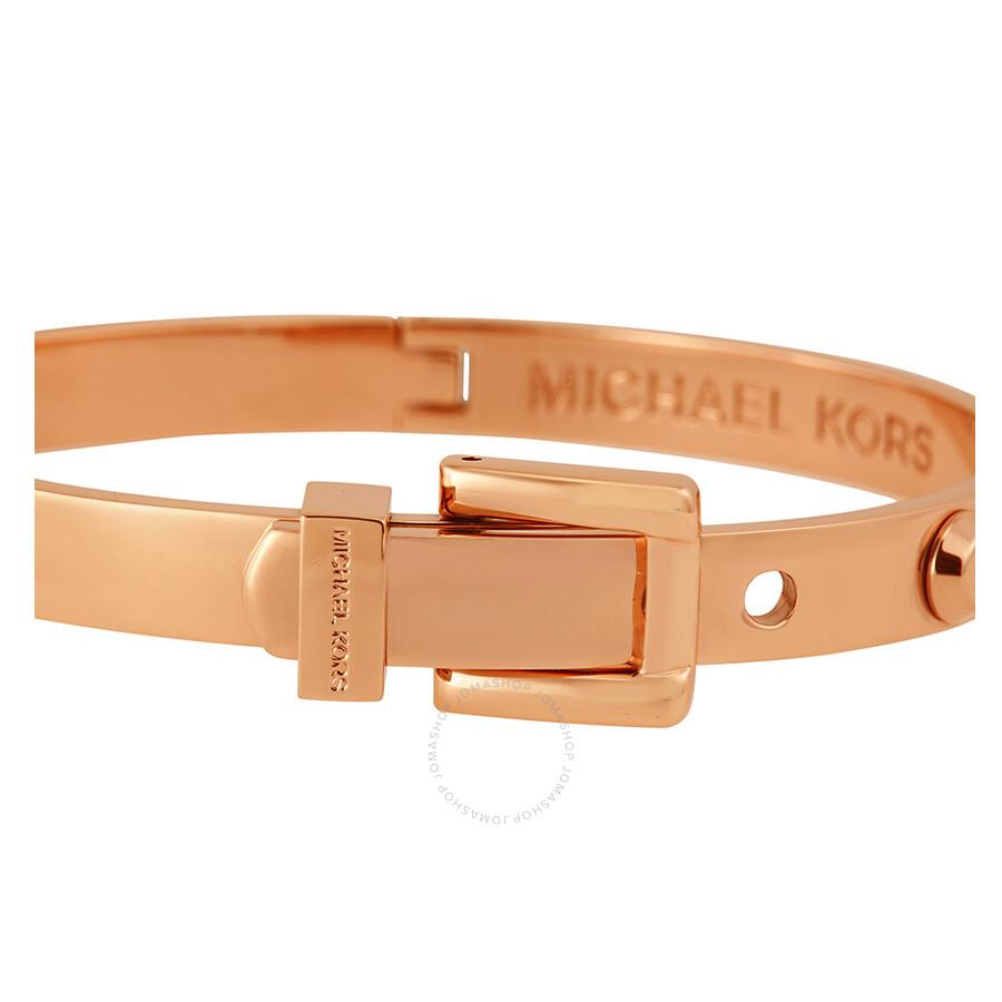 a9555367091c Michael Kors Astor Rose Golden Buckle Bangle Bracelet - Michael Kors ...