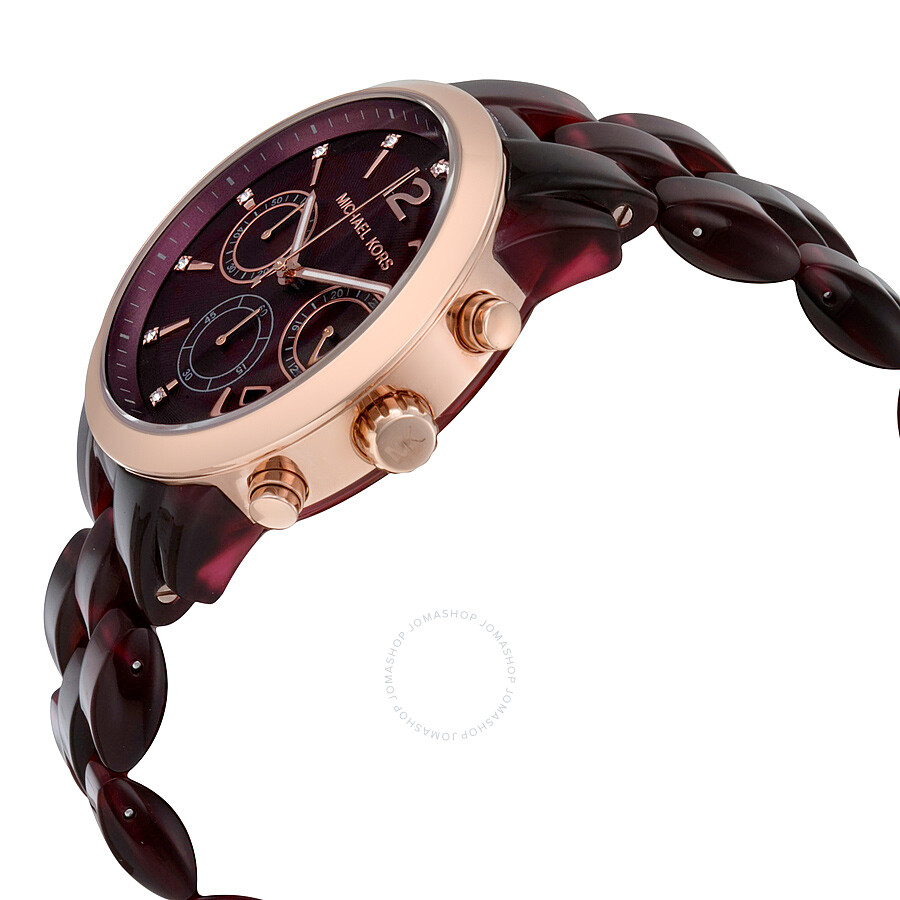 e6e5bd4a7058 ... Michael Kors Audrina Burgundy Dial Chronograph Ladies Watch MK6237 ...