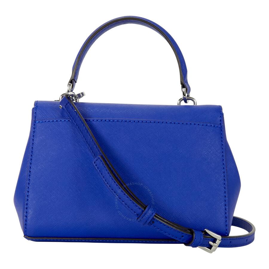 e5cba7f6cd07 Michael Kors Ava Extra-Small Saffiano Leather Crossbody - Electric Blue  Item No. 32F5SAVC1L