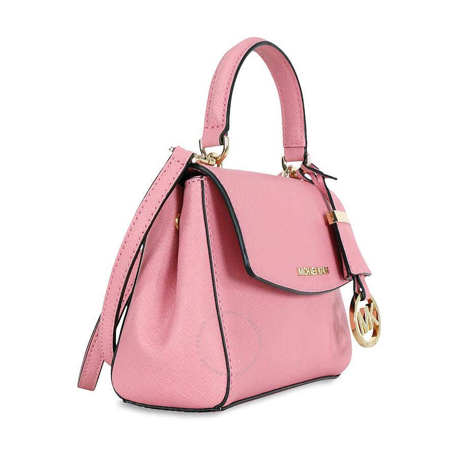 6fd3ae465992d9 Michael Kors Ava Extra Small Saffiano Leather Crossbody - Misty Rose ...