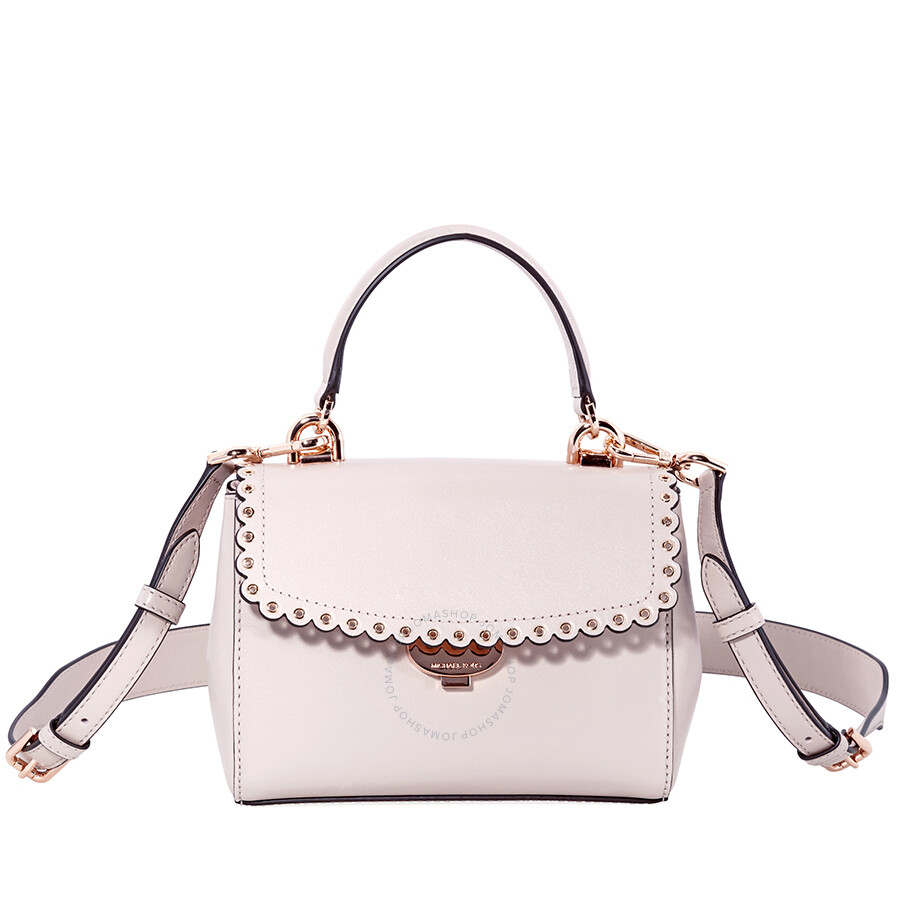 6ef4f418cbed Michael Kors Ava Extra-Small Scalloped Leather Crossbody- Soft Pink Item  No. 32T8TF5M5I-187