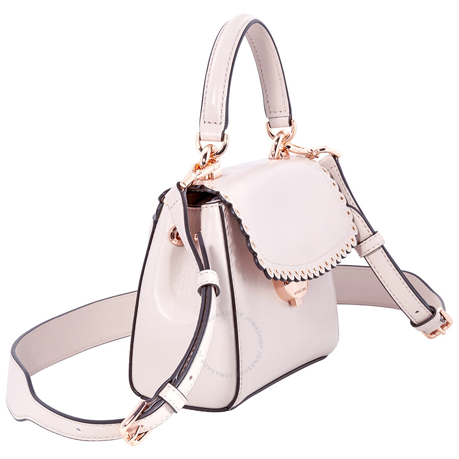 8d36bfacf290 Michael Kors Ava Extra-Small Scalloped Leather Crossbody- Soft Pink ...