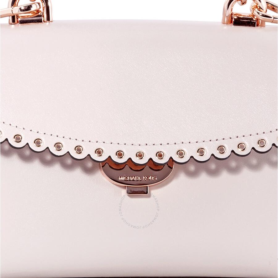 64c06daf5916b6 Michael Kors Ava Extra-Small Scalloped Leather Crossbody- Soft Pink ...