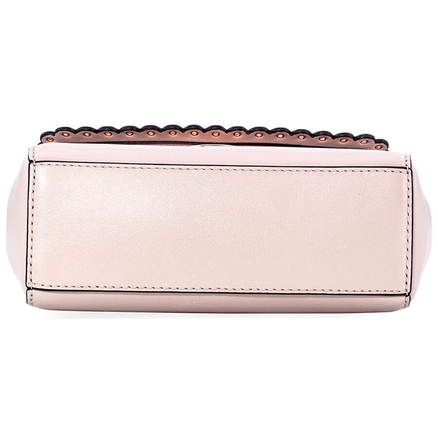 d7eee1b14ff0 Michael Kors Ava Extra-Small Scalloped Leather Crossbody- Soft Pink ...