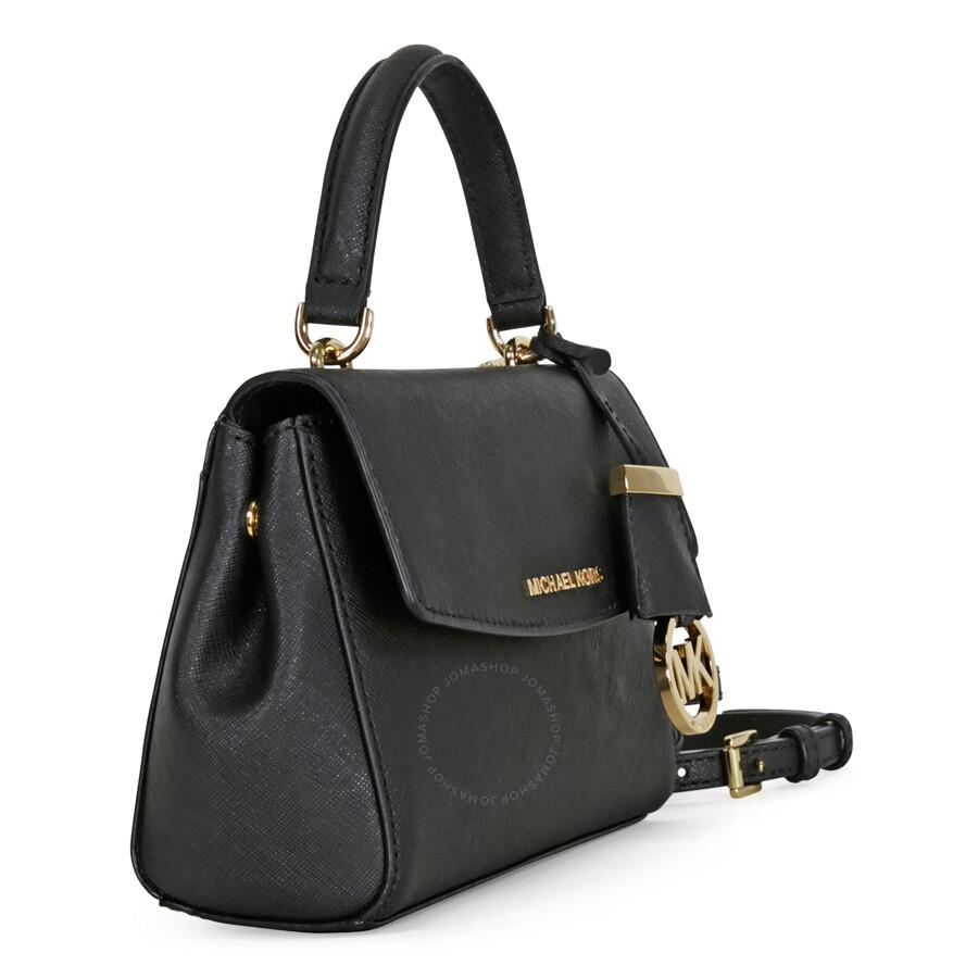 2fcc1586b6e4 Michael Kors Ava Extra Small Saffiano Leather Crossbody - Black ...