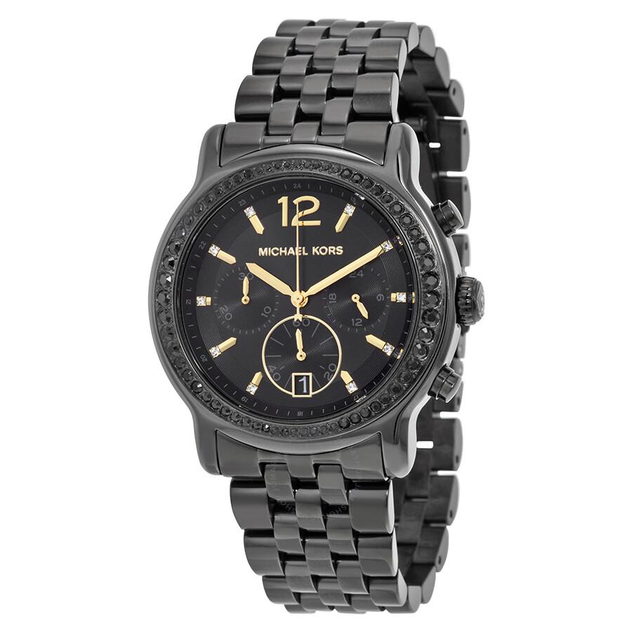 michael kors baisley black chronograph