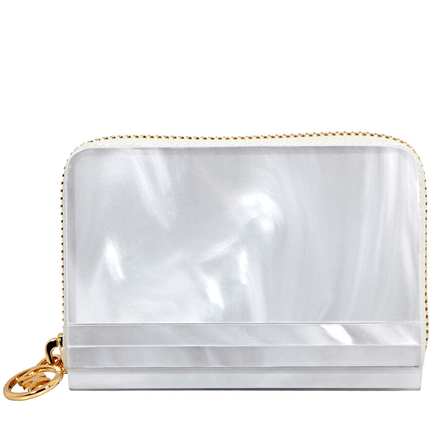 1345b6e3e64c Michael Kors Barbara Marble Resin Coin Purse - Optic White Item No.  32H8GB8Z1P-085