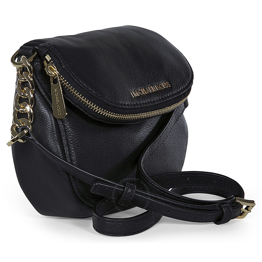 d78d929ca124 Michael Kors Bedford Flap Black Leather Crossbody Bag - Bedford ...
