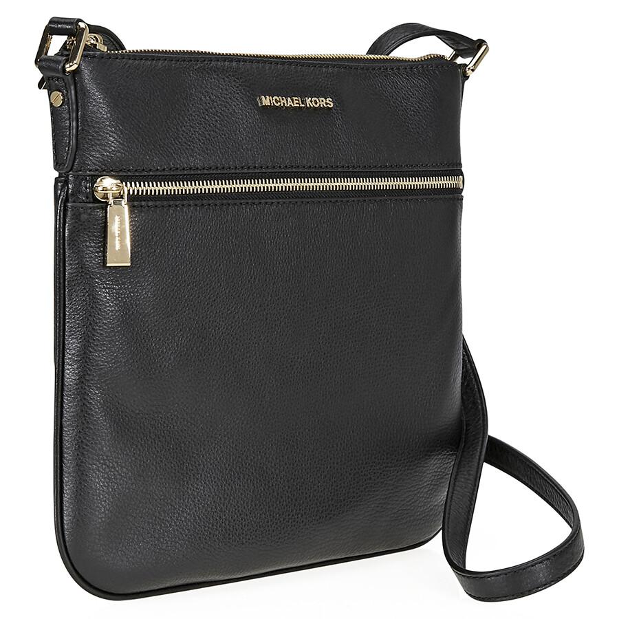 9268a24822b8 Michael Kors Bedford Flat Crossbody Bag- Black Item No. 32H2MBFC2L-001