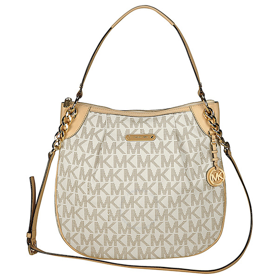 ac85a0ceb6af Michael Kors Bedford Large Convertible Shoulder Bag in Vanilla - Cream Item  No. 30T3GTTL9B-150