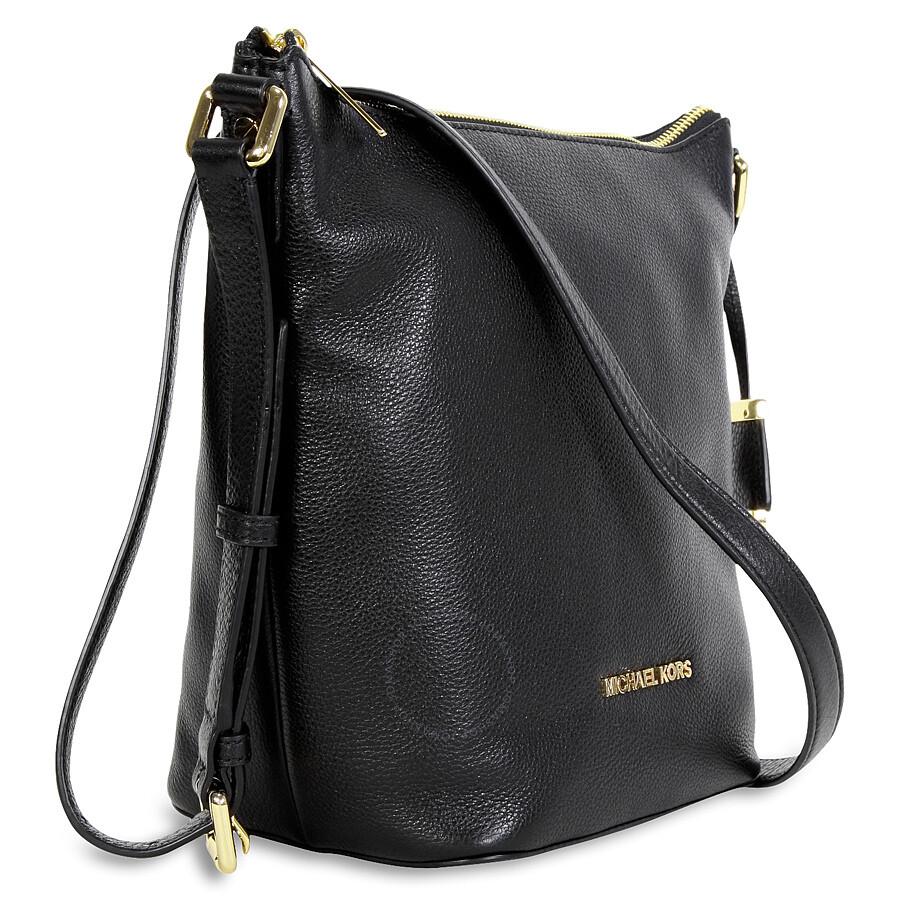 michael kors bedford leather messenger bag black. Black Bedroom Furniture Sets. Home Design Ideas