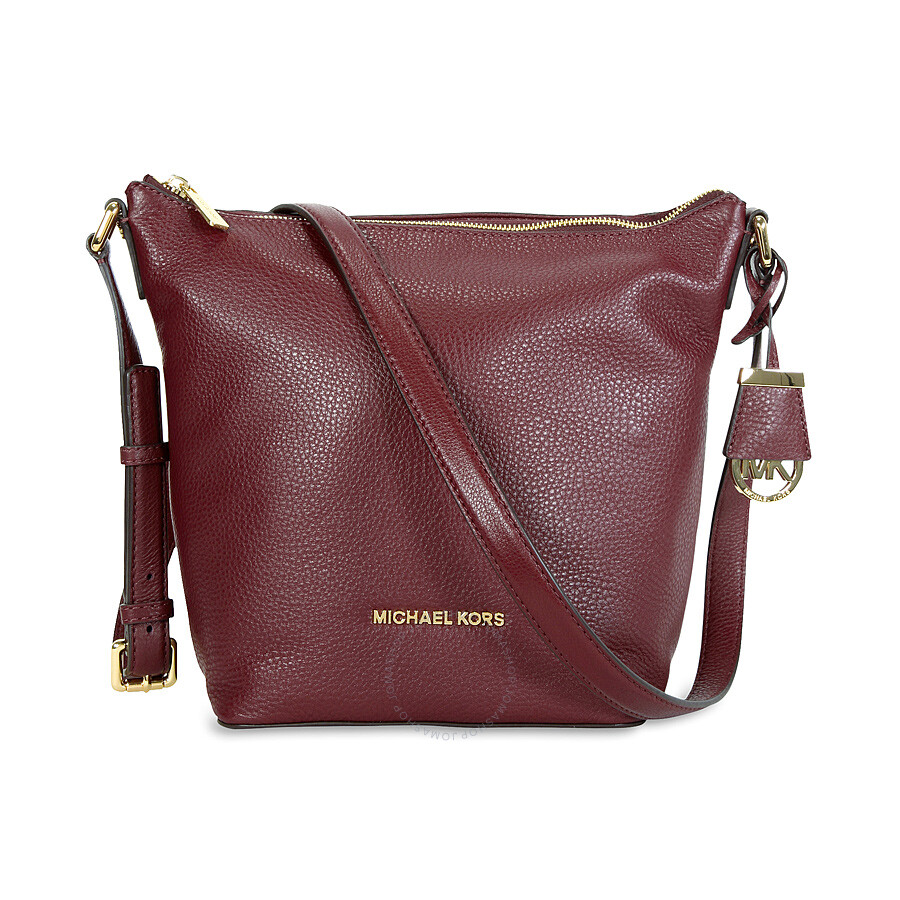 e2f2e3a5685baa Michael Kors Bedford Leather Messenger Bag - Merlot Item No. 30T5GBFM2L-580