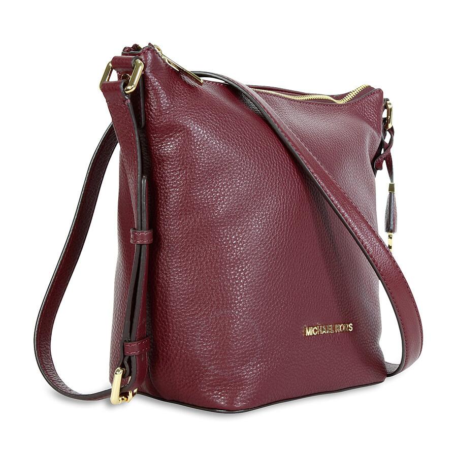 921feee603 Michael Kors Bedford Leather Messenger Bag - Merlot - Bedford ...