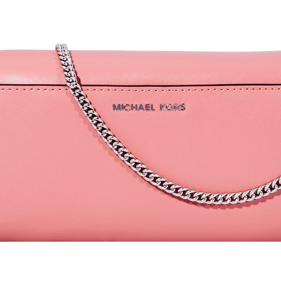 d88c3641dad7 Michael Kors Bellamie Leather Clutch - Rose - Michael Kors Handbags ...
