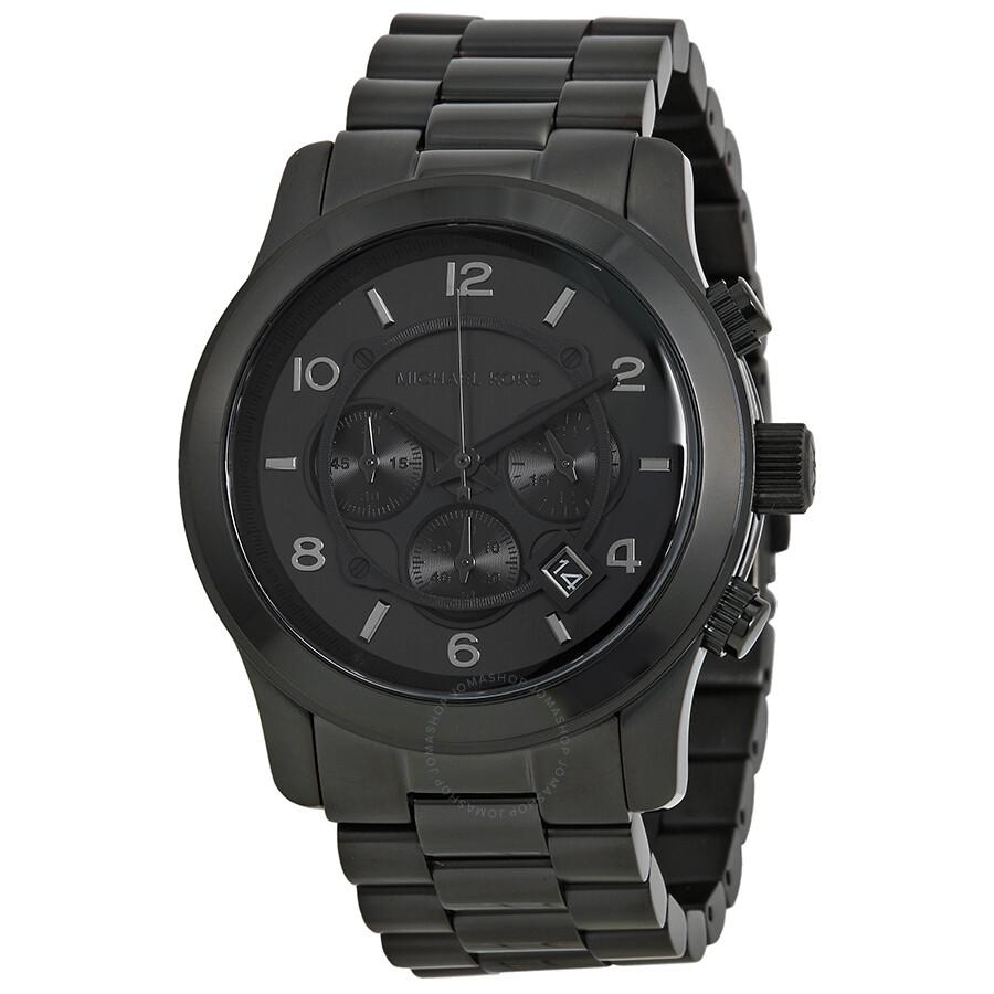 7fbc35f0584 Michael Kors Blacked Out Runway Chronograph Men s Watch MK8157 ...