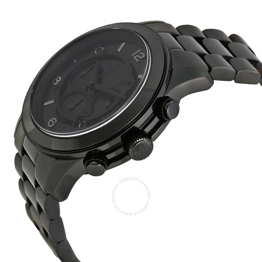 5407a2c1cab7 ... Michael Kors Blacked Out Runway Chronograph Men s Watch MK8157 ...