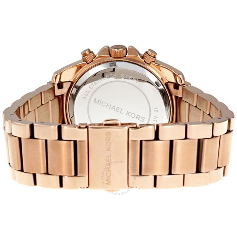 5131f97f0b62 Michael Kors Blair Chronograph Rose Dial Ladies Watch MK5263 - Blair ...