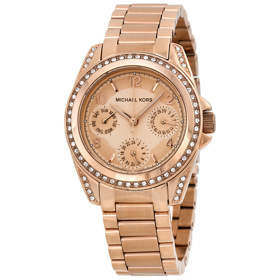Michael Kors Blair Multi-Function Rose Gold-tone Ladies ...