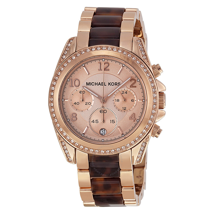 michael kors blair rose dial rose gold tone ladies watch. Black Bedroom Furniture Sets. Home Design Ideas