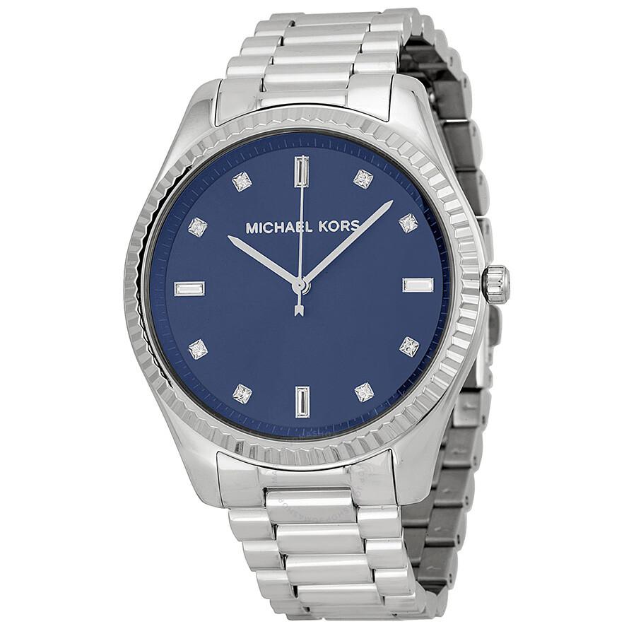5439b3a92457 Michael Kors Blake Blue Dial Stainless Steel Men s Watch MK3225 ...