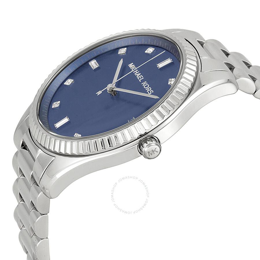 352c9a9720c3 ... Michael Kors Blake Blue Dial Stainless Steel Men s Watch MK3225 ...