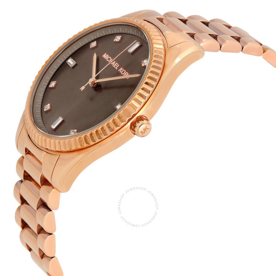 c4e32d767305 ... Michael Kors Blake Brown Dial Rose Gold-tone Ladies Watch MK3227 ...