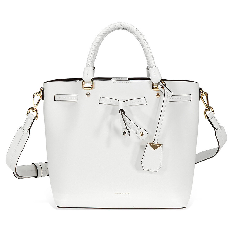 9d6dc28464f5 Michael Kors Blakely Medium Bucket Bag- Optic White Item No. 30S8GZLM2L-085