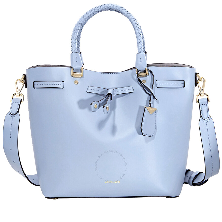 a995c51ee122 Michael Kors Blakely Medium Bucket Bag- Pale Blue Item No. 30S8GZLM2L-487