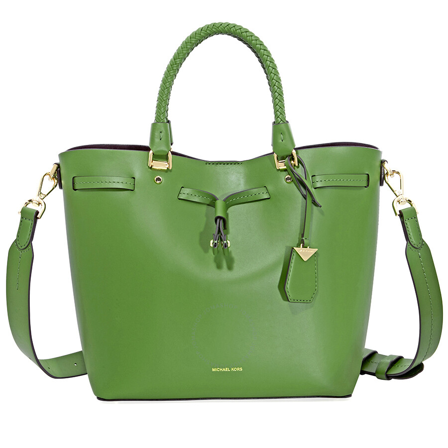 b6124a57eedf Michael Kors Blakely Medium Bucket Bag- True Green Item No. 30S8GZLM2L-304
