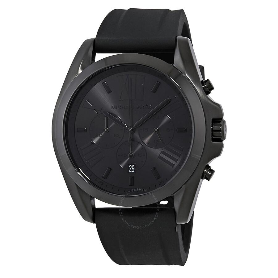 michael kors bradshaw black s chronograph