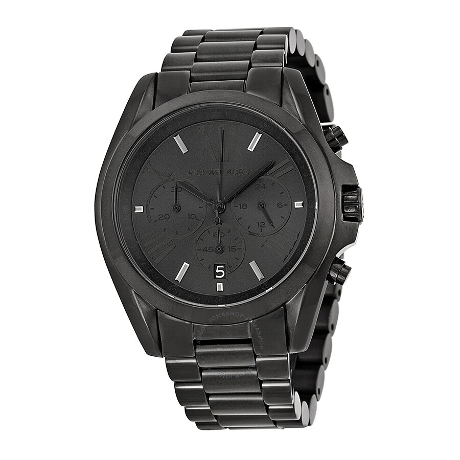 Michael kors bradshaw chronograph black dial unisex watch mk5550 bradshaw michael kors for Watches michael kors