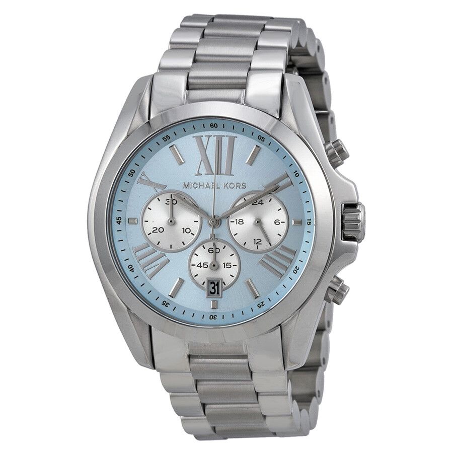13991760337e Michael Kors Bradshaw Chronograph Blue Dial Stainless Steel Ladies Watch  Watch MK6099 ...