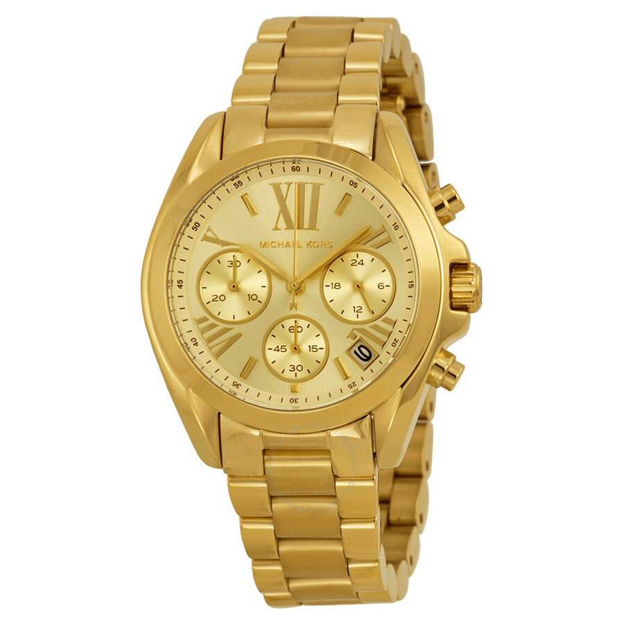09382bc05dd7 Michael Kors Bradshaw Chronograph Champagne Dial Gold-tone Ladies Watch  MK5798 ...