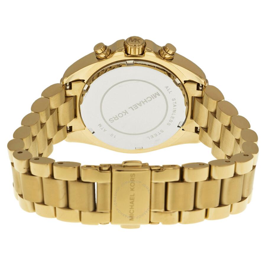 e648aee2900e ... Michael Kors Bradshaw Chronograph Champagne Dial Gold-tone Ladies Watch  MK5798 ...
