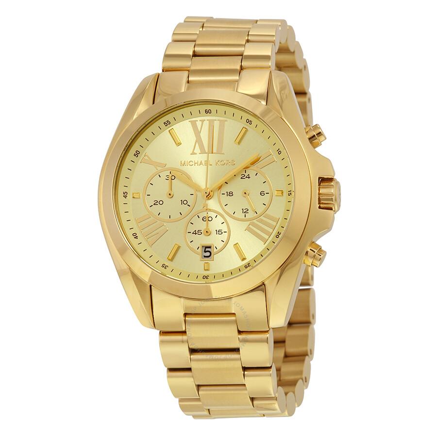 804148e2da Michael Kors Bradshaw Chronograph Champagne Dial Unisex Watch MK5605 ...