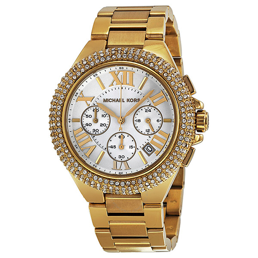 5f22f0a7bab5 Michael Kors Bradshaw Chronograph Gold-tone Ladies Watch MK5756 ...