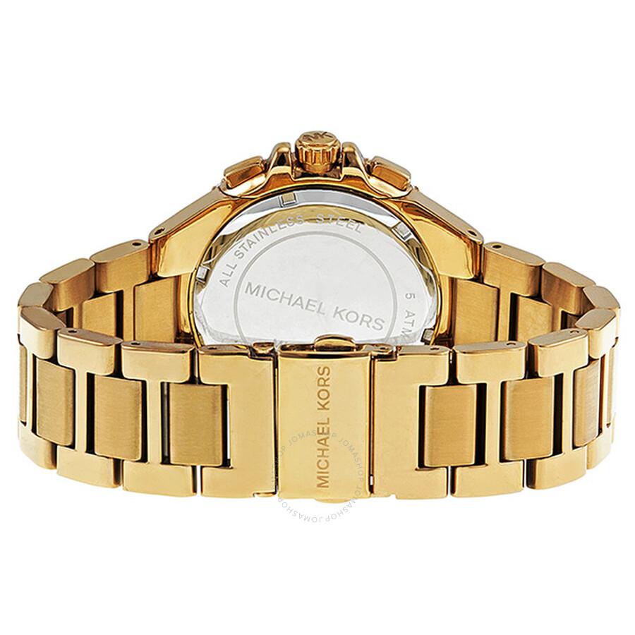 1d87ec1ed796 ... Michael Kors Bradshaw Chronograph Gold-tone Ladies Watch MK5756 ...
