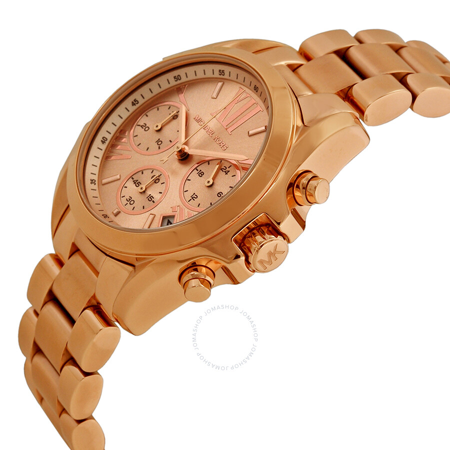 44beb2abf913 ... Michael Kors Bradshaw Chronograph Rose Dial Rose Gold-tone Ladies Watch  MK5799 ...