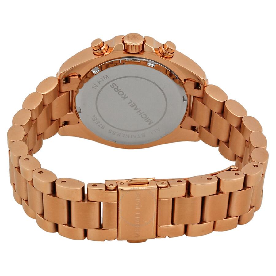 efcc26624ffd ... Michael Kors Bradshaw Chronograph Rose Dial Rose Gold-tone Ladies Watch  MK5799 ...