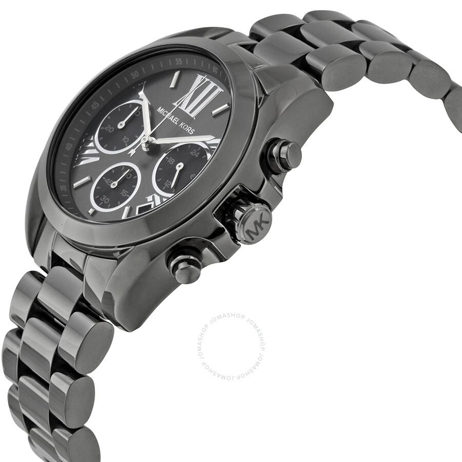 16d4161a91b0 ... Michael Kors Bradshaw Grey Dial Chronograph Gunmetal Tone Ladies Watch  MK6249 ...
