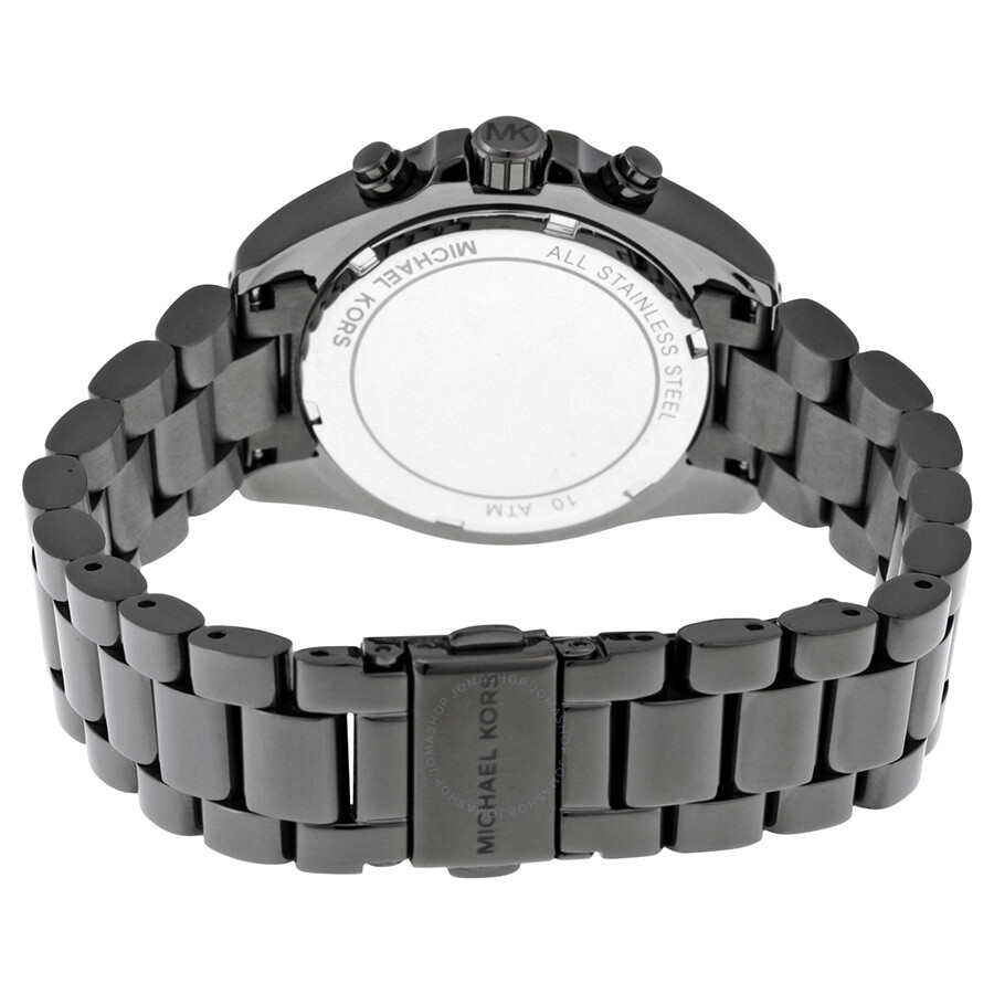 59f30907af0f ... Michael Kors Bradshaw Grey Dial Chronograph Gunmetal Tone Ladies Watch  MK6249