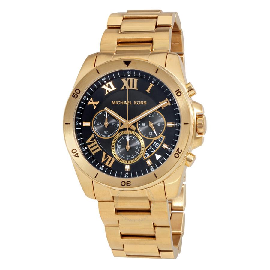 michael kors brecken watches jomashop michael kors brecken black dial chronograph men s watch