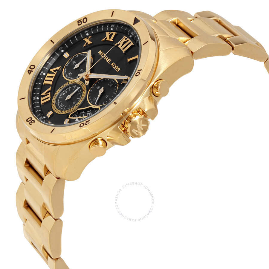 c9547a802541 ... Michael Kors Brecken Black Dial Chronograph Men s Watch MK8481 ...