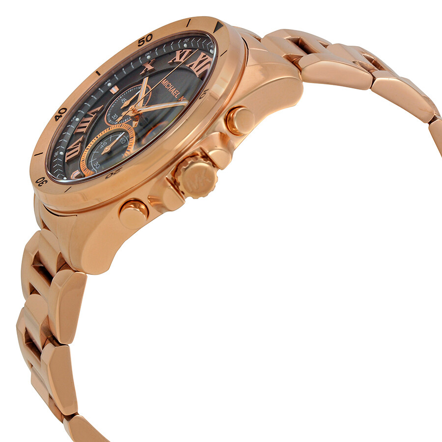 2cc1ab812a6e ... Michael Kors Brecken Grey Dial Men s Rose Gold Chronograph Watch MK8563  ...