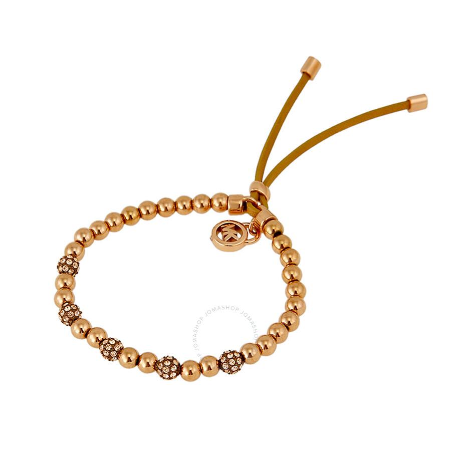 michael kors brilliance rose golden bead stretch bracelet. Black Bedroom Furniture Sets. Home Design Ideas