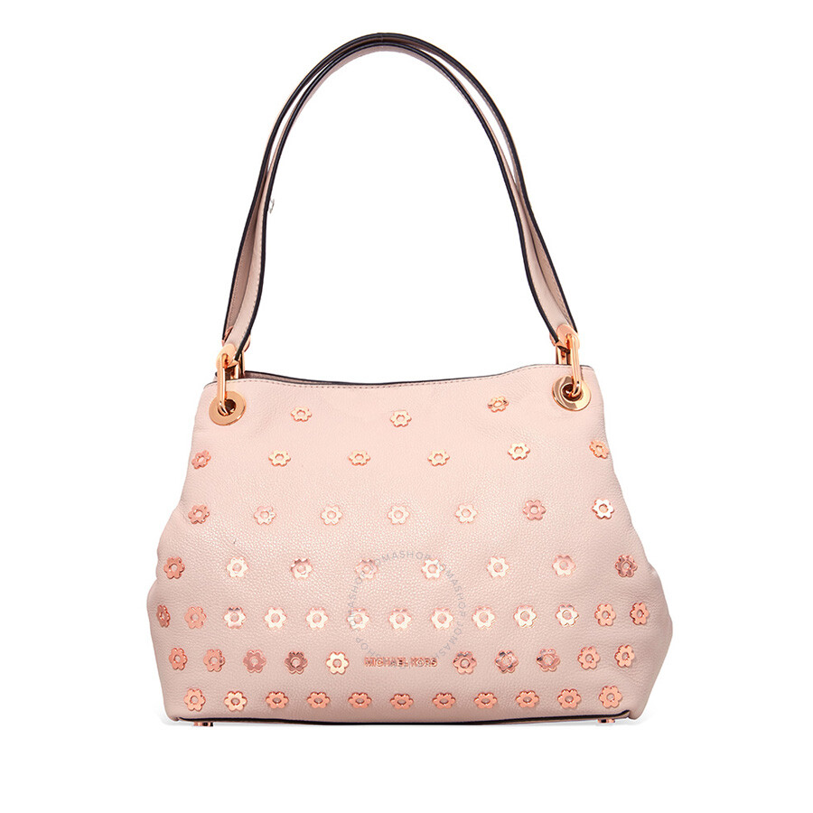 4ee92b97cf8d Michael Kors Bristol Raven Large Leather Shoulder Bag- Pink Item No.  30S8TRXE4U-187