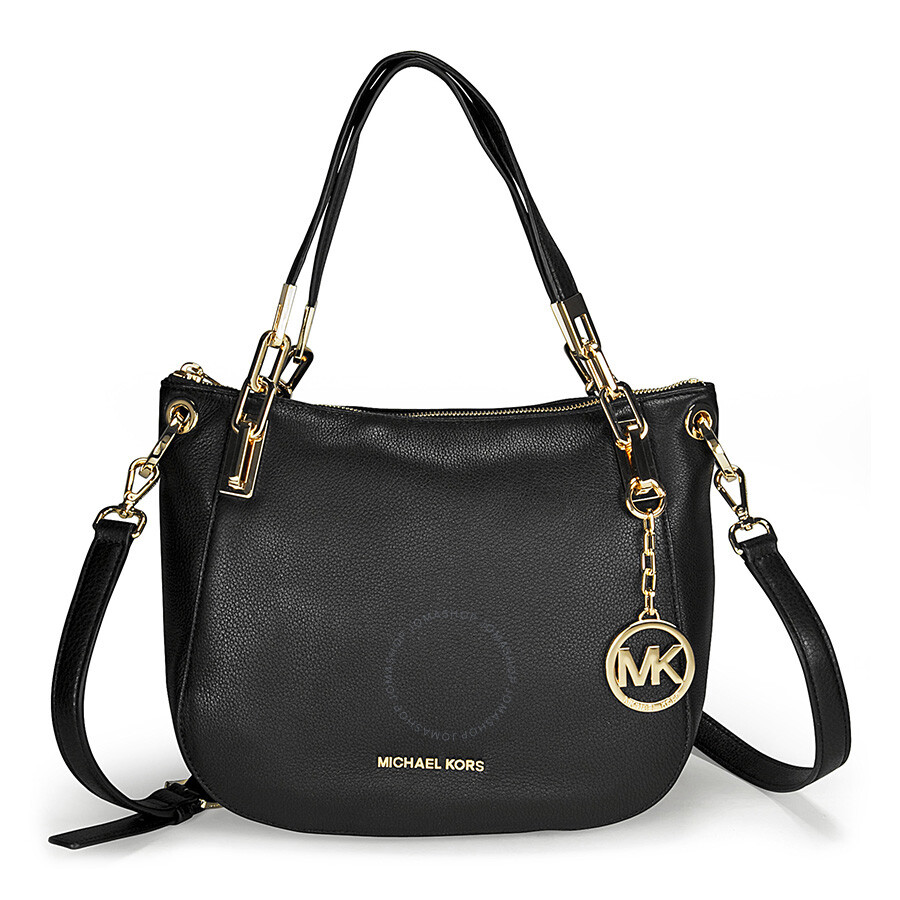 cb6b8fd7169d Michael Kors Brooke Medium Black Leather Shoulder Tote Item No.  30H3GOKE2L-001